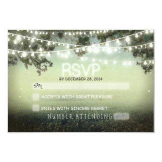"night lanterns romantic wedding rsvp 3.5"" x 5"" invitation card"