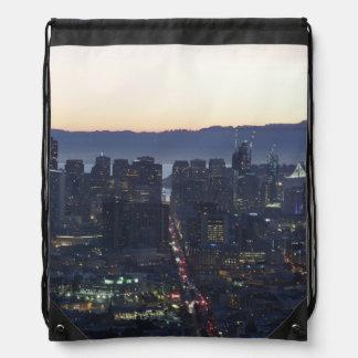 Night Life Drawstring Bag