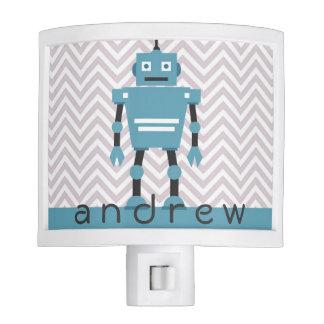 Night Light | Boys Personalized Blue Robot