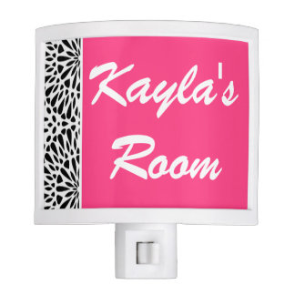 Night Light | Girls Personalized Hot Pink Lace