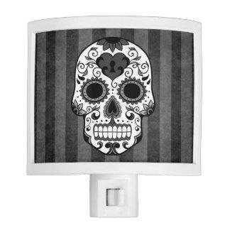 Night Light - Sugar Skull in Grey