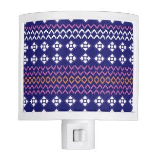 Night light with folk pattern / blue