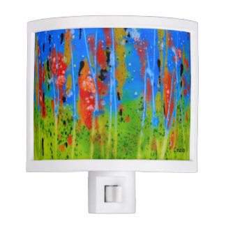 Night Light with splashed-colors