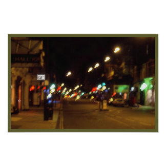 night lights blur poster