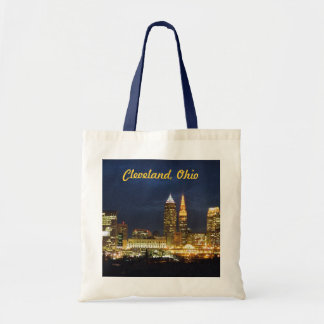 Night Lights Cleveland Ohio Tote Bag
