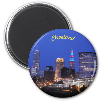 Night Lights Cleveland (River View) Magnet