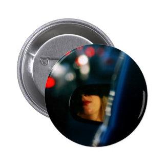 Night Lights Lady Red Lipstick Car Mirror 2 Inch Round Button