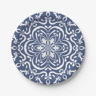 Night Mandala 7 Inch Paper Plate