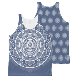 Night Mandala All-Over-Print Tank Top