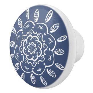 Night Mandala Ceramic Knob