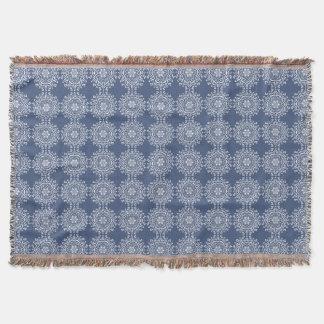 Night Mandala Throw Blanket