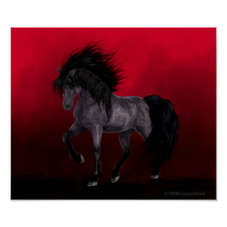 Night Mare Is Waiting Gothic Art Poster