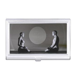 Night meditation - 3D render Business Card Holder