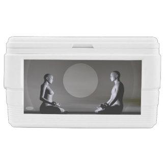 Night meditation - 3D render Chest Cooler