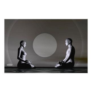 Night meditation - 3D render Stationery