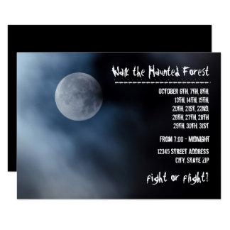 Night Moon - 3x5 Haunted Forest Invitation