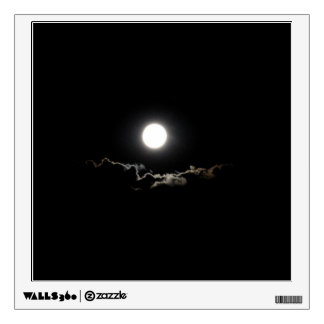 Night Moon and Clouds Wall Decal