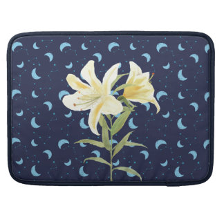 Night Moon Casablanca Lily Sleeve For MacBook Pro