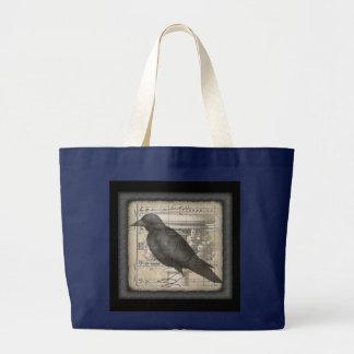 Night Music Crow Tote Bag