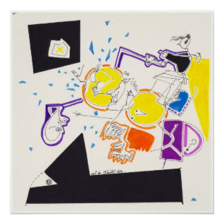 Night & Nap Drawings 9  by Pascale Baud P Poster