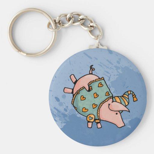 night night piggy 2 key chain