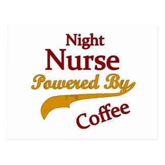 Night Nurse Powered By Coffee Postcard