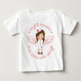 Night Nurses Are Born With Wings Baby T-Shirt