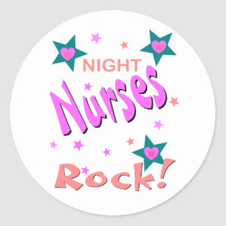 Night Nurses Rock Classic Round Sticker