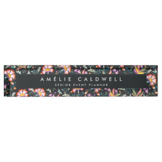 Night Oasis   Floral Nameplate