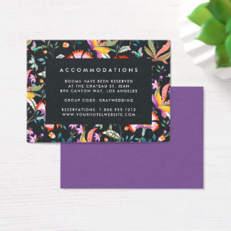 Night Oasis Ultraviolet Hotel Accommodation Cards