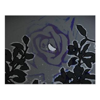 Night of a Blue Moon Rose Postcard
