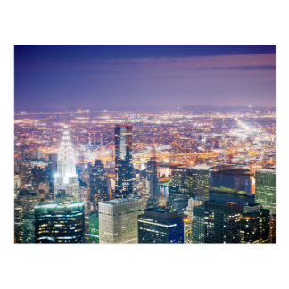 Night of Manhattan Postcard