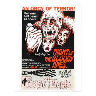NIGHT OF THE BLOODY APES POSTCARD