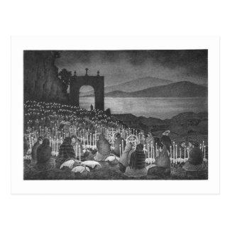 Night of the Dead. Janitzio, Mexico. c. 1958 Postcard