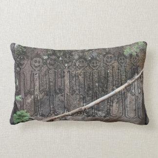 Night of the Walking Gigglers Petroglyph Lumbar Pillow