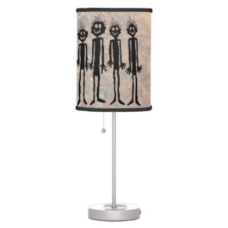 Night of the Walking Gigglers Petroglyph Table Lamp