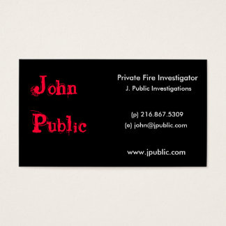 Night on Fire Business Card