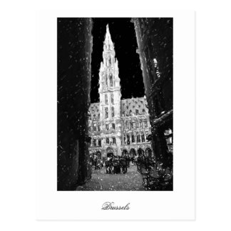 Night On The Grand Place, Brussels Postcard