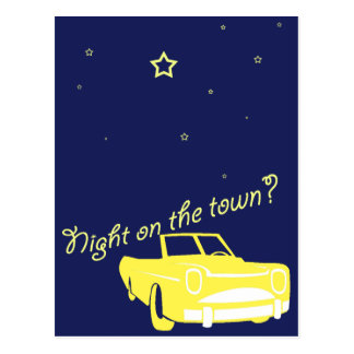 night on the town postcard