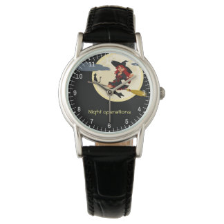 Night Operations funny customizable Watch