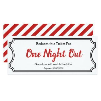 Night Out Gift Ticket Card