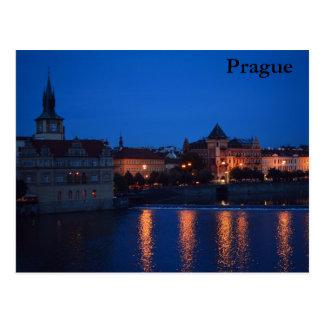 NIGHT OVER PRAGUE POSTCARD