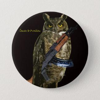 Night Owl 3 Inch Round Button