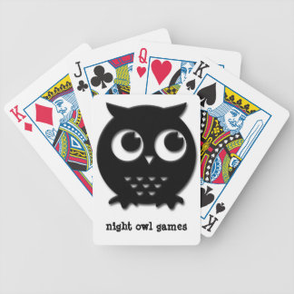 night owl bicycle playing cards