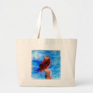 Night Owl Bird Art Jumbo Tote Bag