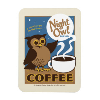 Night Owl Coffee Magnet