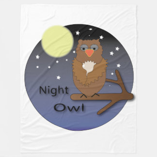 Night Owl Fleece Blanket