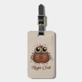 Night Owl Luggage Tag
