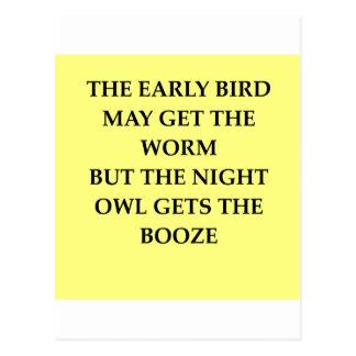 night owl postcard