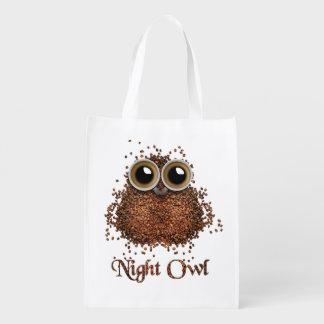 Night Owl Reusable Grocery Bag